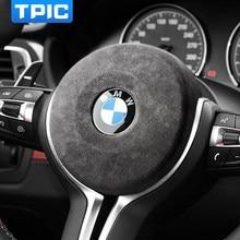 TPIC-cubierta de Airbag para volante de coche, pegatina de marco para BMW F30, F34, F20, embellecedor Interior de fibra de carbono, F21, F22, F32, F80, F83