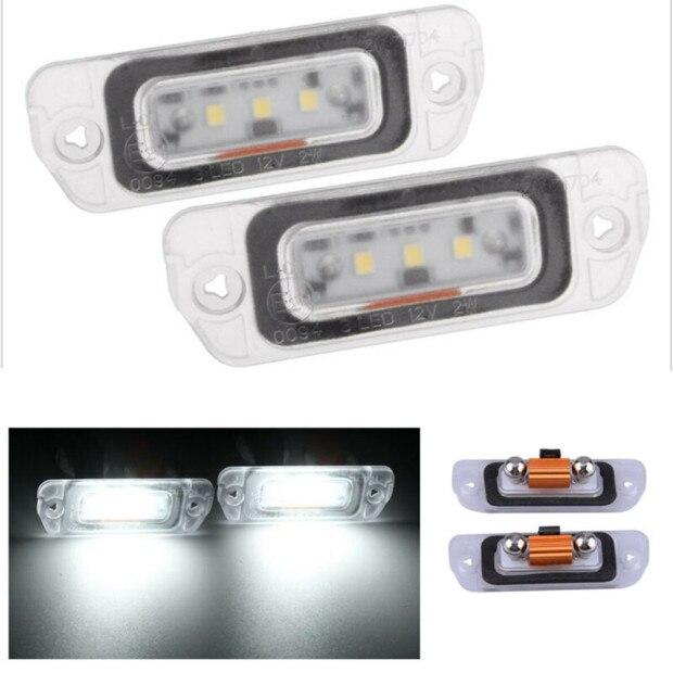 2 PCS White LED License Plate Light LAMP For Mercedes-Benz AMG ML GL R W164 W251