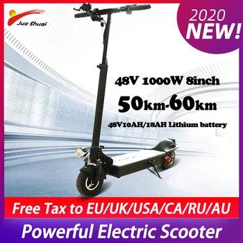 Patinete eléctrico plegable de 48V y 1000W, Motor potente, neumático ancho de 11 pulgadas, envío gratis