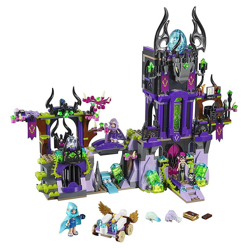 Compatible <font><b>Legoed</b></font> Elves <font><b>41180</b></font> Wizard Laguna Dark Magic Castle Building Blocks Diy Blocks Toys for children Magical Bakery image