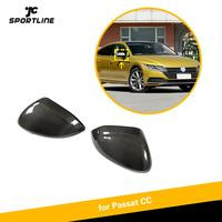 For Volkswagen VW Passat CC 2019 Carbon Fiber Car Rear View Mirror Cover Cap Replacement Side Mirror Cap Shell