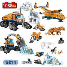 City Arctic Scout Truck Air Transport Base Model Building Blocks Compatible Legoinglys City Creators Bricks Toys for Children цены онлайн