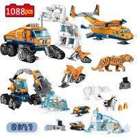 City Arctic Scout Truck Air Transport Base Model Building Blocks Compatible Legoinglys City Creators Bricks Toys for Children