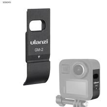 Aluminium Batterie Abdeckung Fall Wiederaufladbare Seite Abdeckung mit Lade Port Für Gopro Max 360 Action Kamera Zubehör