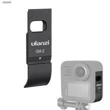 알루미늄 배터리 커버 케이스 gopro max 360 용 충전 포트가있는 충전식 사이드 커버 액션 카메라 액세서리