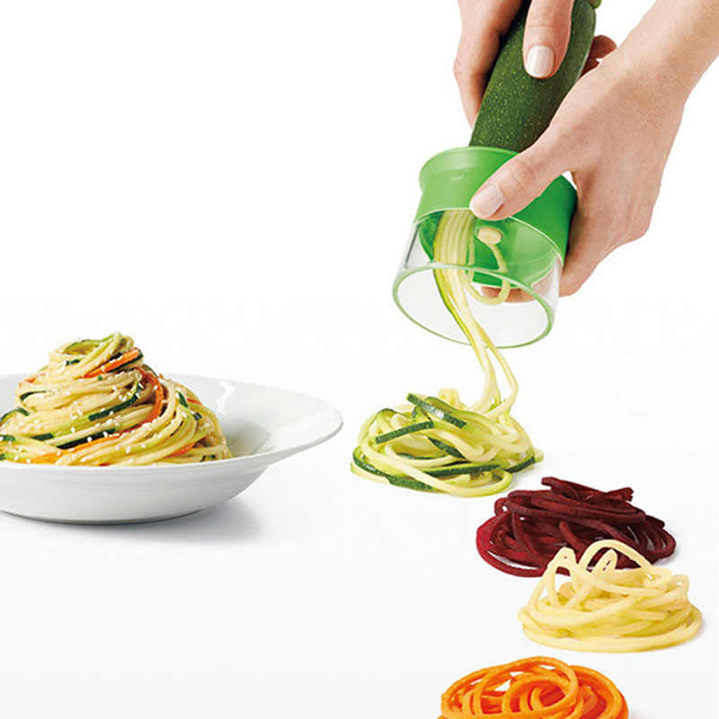 Nieuwe Abs Wortel Komkommer Rasp Spiral Blade Cutter Groente Fruit Spiral Slicer Salade Tool Courgette Noodle Spaghetti Maker