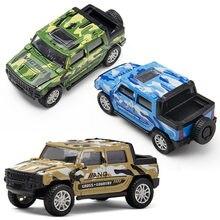 Fundido 1:32 Liga Brinquedo Modelo de Carro SUV Off-road Veículo Simulação Pull Back Militar Mini Drop-resistente Crianças brinquedos de Presente Carro Menino