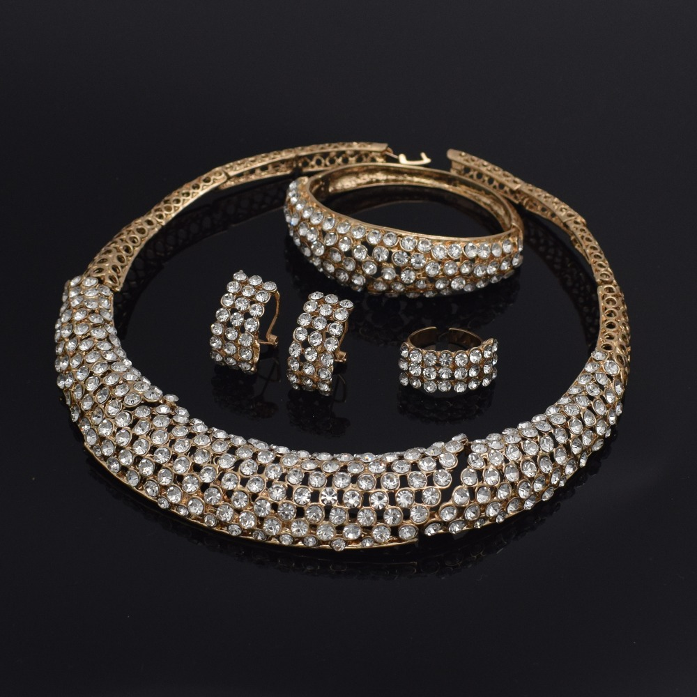Fashion Dubai Jewelry Sets For Women Luxury african Wedding Bridal Jewelry Sets Necklace jewellery sets for women