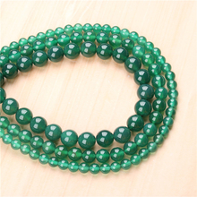 Natural Green agate 4/6/8/10/12mm  Bead Round Bead Spacer Jewelry Bead Loose Beads For Jewelry Making DIY Bracelet
