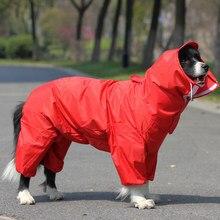 Chubasquero grande para perros, ropa impermeable para exteriores con capucha, capa de Mono para perros pequeños y grandes
