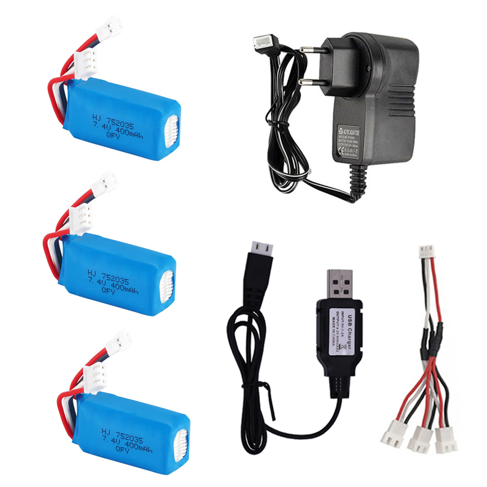 <font><b>7.4V</b></font> <font><b>400mah</b></font> <font><b>Lipo</b></font> <font><b>Battery</b></font> XH2.54 Plug and Chager set for DM007 RC Quadcopter RC toys Parts <font><b>7.4V</b></font> high quality <font><b>battery</b></font> XH2.54 Plug image