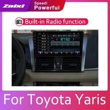 ZaiXi Android 2 Din Car radio Multimedia Video Player auto Stereo GPS MAP For Toyota Yaris 2014~2016 Media Navi Navigation цена