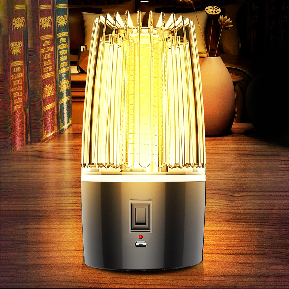 Eléctrica de atrapar la luz Bug Zapper fotocatálisis mudo de la casa repelente Mosquito asesino lámpara Zapper Anti polilla al aire 3