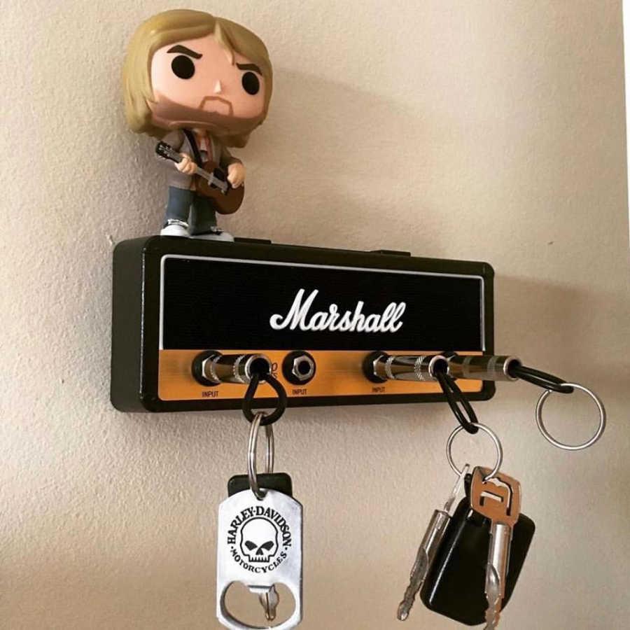 Chave de armazenamento marshall guitarra chaveiro titular jack ii rack 2.0 elétrica pendurado chave rack amp amplificador jcm800 padrão do vintage