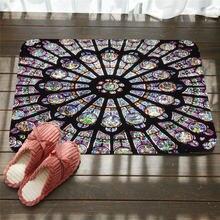 Напольные коврики с рисунком мандалы Противоскользящие цветами