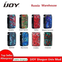Original IJoy Shogun Univ 180W Box Mod Powered By Dual 18650 Battery Vape Mod Vape Vaporizer e cig Mod Box Vs DRAG 2 / Luxe Mod