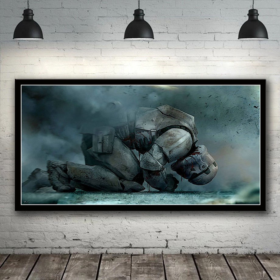 Home Decoration Modular Pictures Hd Prints 1 Piece Movie Star Wars Poster Canvas Wall Artwork Painting Simple Modern Living Room image