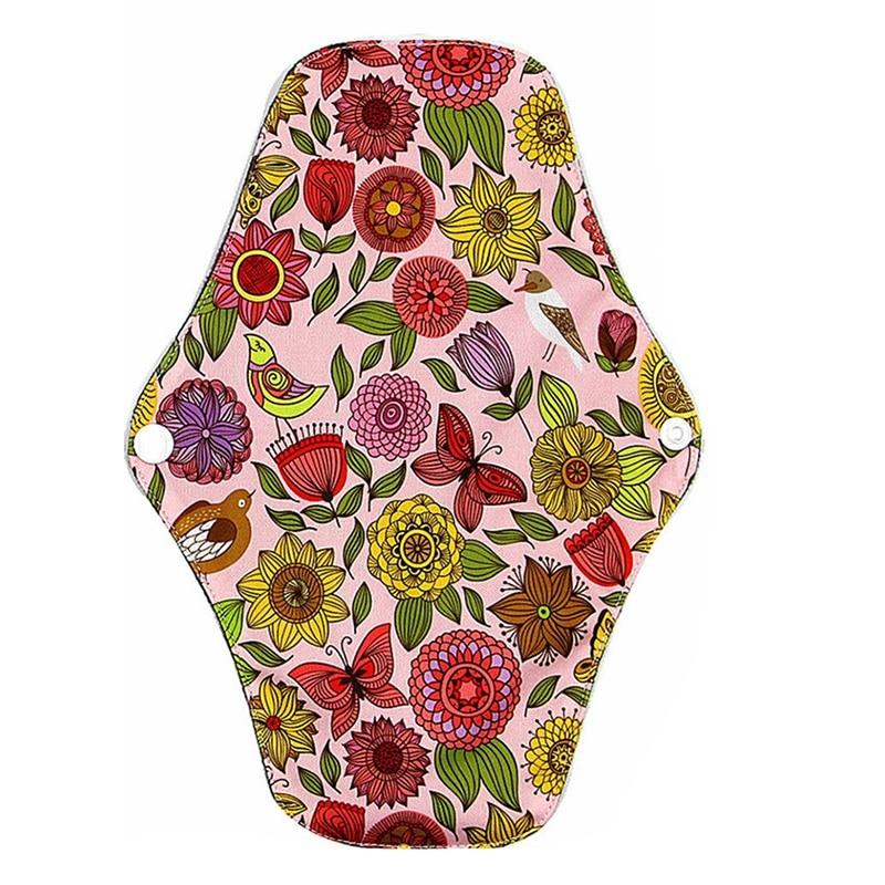 Bamboo Charcoal Postnatal Breathable Pad Sanitary Napkin Reusable Washable Fiber Cloth Menstrual Period Pa