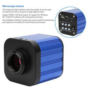 Image 2 - 4k HDMI USB Digital Electric Industrial Microscope Camera with Remote Control 100 240V Microscopio Digital