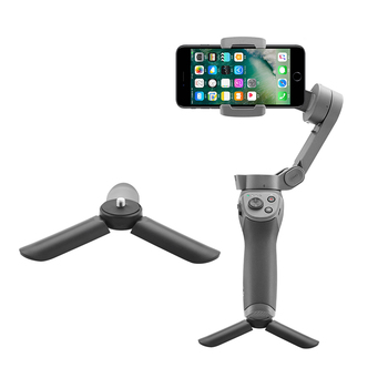 Mini Tripod for DJI OSMO Mobile 2 Zhiyun Smooth 4 Feiyu Vimble Moza Mini Stabilizer Desktop Mount Accessories handheld gimbal adapter switch mount plate for gopro 6 5 4 3 3 yi 4k camera for dji osmo for feiyu zhiyun smooth q gimbal