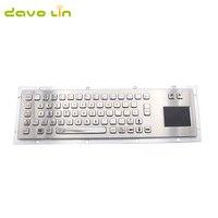 Metal Keyboard with Touchpad Metal Mechanical USB/PS2 Keyboard