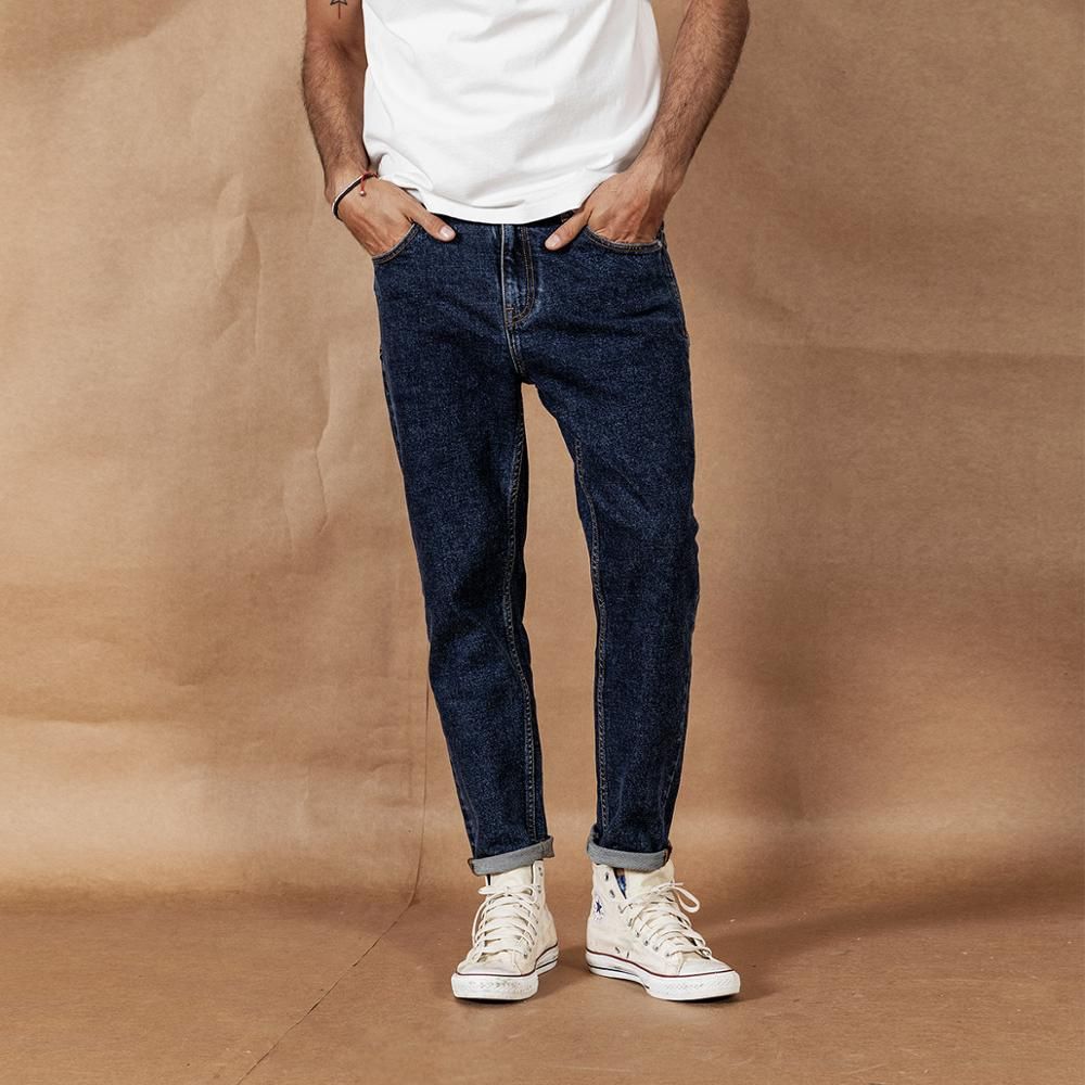 SIMWOOD 2019 Autumn Winter New Jeans Men Fashion Classical High Quality Jeans Plus Size Denim Trousers 190408