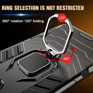 Image 4 - 高級防具ソフト耐震ケースに Iphone XR XS Max X シリコーンバンパーケース Iphone 11 プロ最大 6 7 8 プラス金属リング