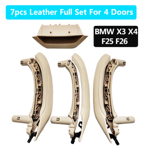 LHD RHD Interior Door Armrest inside Pull Handle with Leather Cover Full Set Assembly For BMW X3 X4 F25 F26 2010-2016