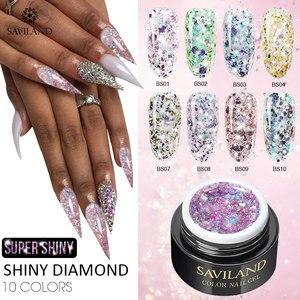 SAVILAND Shiny Diamond Gel Nai