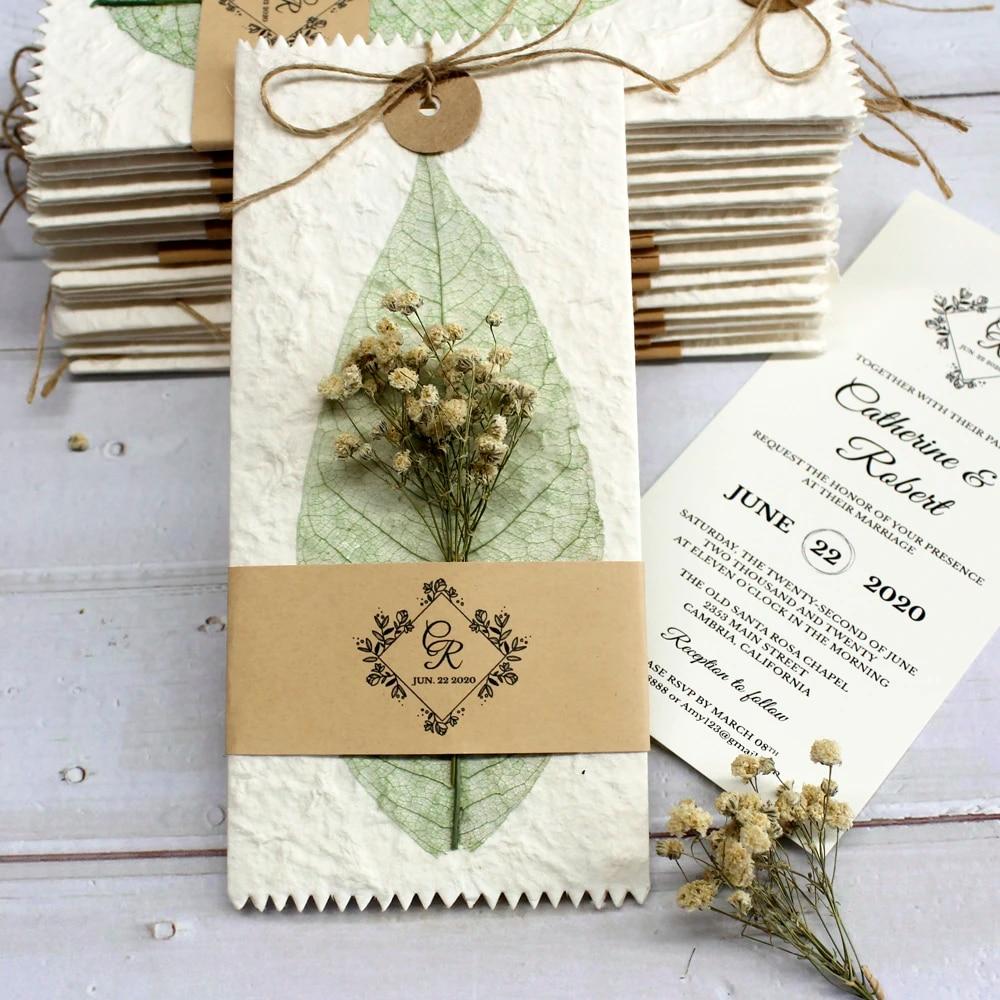 Vintage Wedding Invitations Flower Invitation Card Creative Wedding Invite  With Customized Wording Set of 50 pcs|Cards & Invitations| - AliExpress