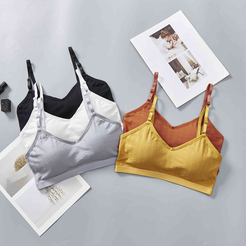 Sports Bra For Women Stretch Thread Solid Color Sports Bra Vest-style Beauty Back Active Bra Small Chest Underwear Sexy Bra