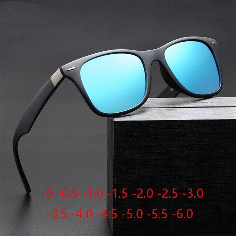 Sport Men's TR90 Polarized Sunglasses Myopia Finished Driving Prescription Spectacle Lunettes De Soleil 0 -0.5 -1.0 -2.0 To -6.0