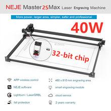 NEJE Master 2s Max 30W 40W 460x810MM macchina per incisione Laser professionale, taglierina Laser-controllo Lightburn-bluetooth-app