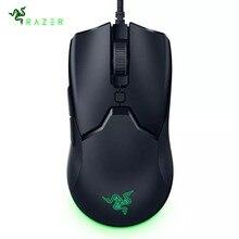 Original razer viper mini wired gaming mouse 61g leve 8500 dpi 5g sensor óptico speedflex cabo para pubg lol