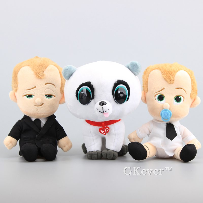 New Arrival The Boss Baby Suit & Diaper Boss Baby Pet Dog Soft Stuffed Toys Cartoon Plush Dolls 7