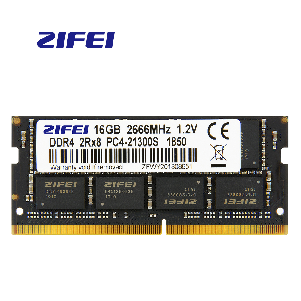 ZiFei  Ram  DDR4  32GB  16GB  8GB  4GB  2133MHz  2400MHz 2666MHz  260Pin SO-DIMM  Module Notebook Memory  For Laptop