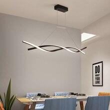 800/1000/1200mm modern led pendant lights lamp for dining room kitchen home matte white/Grey handing fixtures