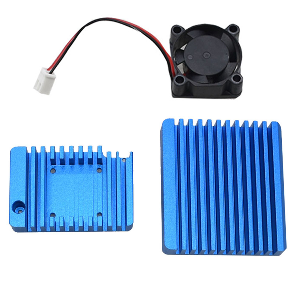 Brand New Durable High Quality Aluminum Alloy Shell 1 Set Of Case With Fan Good Heat Disppation System Fit For NanoPi R2S