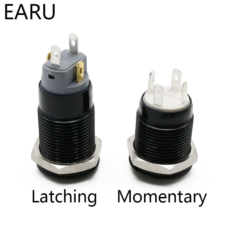 12mm 3-24V Push Button LED Power Switch Momentary Latching Metal Waterproof Hot