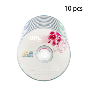 10PCS CD-R 700MB/80min Blank Disc Grade A 52X Multispeed Music CD Disk