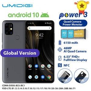 UMIDIGI Power 3 Moblie Phone Android 10 48MP Quad AI Camera 6150mAh 6.53