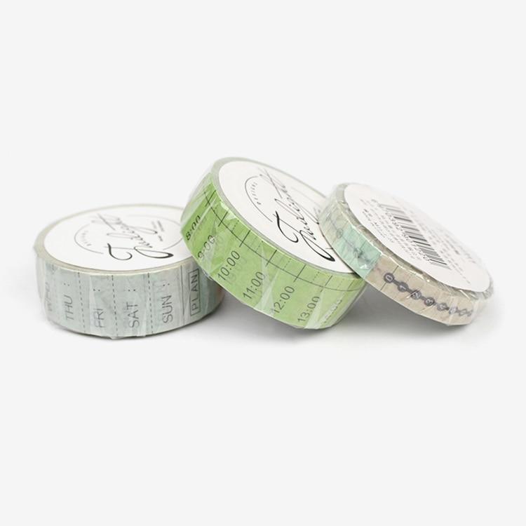 Creative Timeline Weekly Plan Japanese Washi Tape Adhesive Tape Diy Decoration Planner Scrapbook Sticker Label Masking Tape