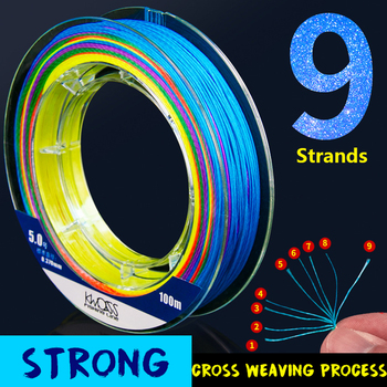 Germany material Braided PE Fishing Line 9 Strands 100M Carp Saltwater Weave Multifilament X9