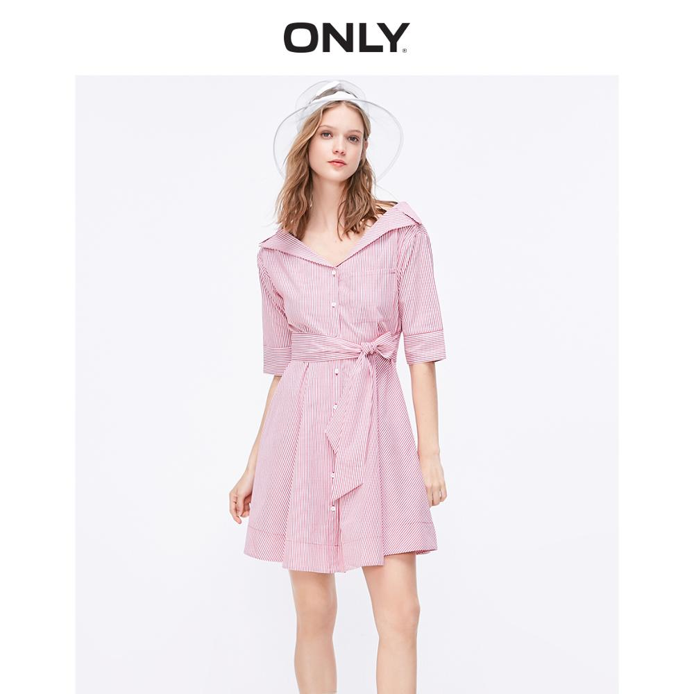 ONLY Women's Lace-up Cinched Waist A-line Dress | 119107674