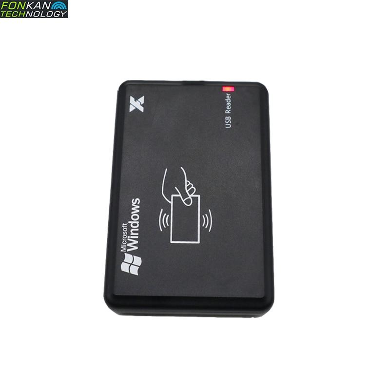 FONKAN RFID UHF Reader Module EPC C1GEN2 Card Encode Writer Reader Small Portable Tag Reader USB Free Drive Emulation Button