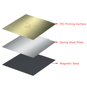 Image 3 - TWOTREES Upgrade Removal Spring Steel PEI Sheet Pre Applied PEI Flex Magnetic Base for CR10 Ender Sapphire Bluer Hot Bed Sticker