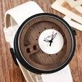 Мужские бамбуковые часы  мужские наручные часы из орехового дерева  оригинальные мужские часы с гладким кожаным ремешком  винтажные деревя...