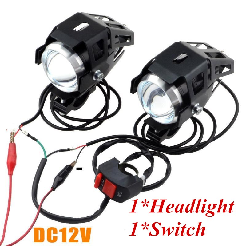 12V Universal LED Headlight LED Motorcycle Motorbike Scooter 6000K Spotlight Waterproof Fog Spot Motos Bulb For Honda YAMAHA