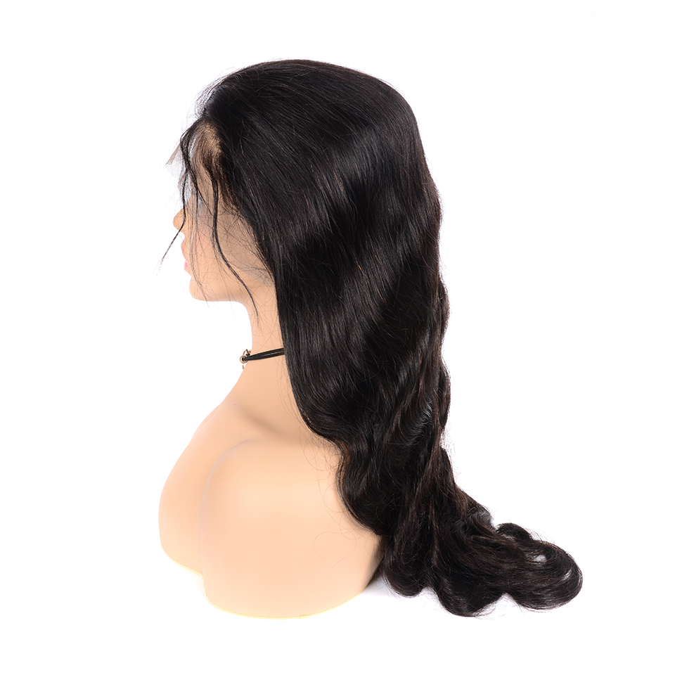 Body Wave Lace Front Human Hair Wigs 13x4 Lace Frontal Wig Pre Plucked With Baby Hair Remy Indian 180 Density Lace Front Wig