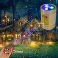 Chims Mini proyector láser al aire libre RGB Star Points portátil inalámbrico para Navidad jardín Patio paisaje Camping Patio regalo